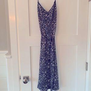 MIDI silky floral dress
